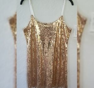 Intimately Free People Gold Sequin Mini Dress